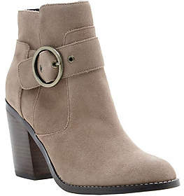 Sole Society Circle Buckle Ankle Boots - Grove