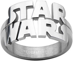 Star Wars FINE JEWELRY Logo Cutout Mens Stainless Steel Ring