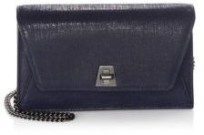 Akris Anouk Envelope Denim Leather Clutch Bag