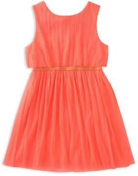 Kate Spade Girls' Pleated Glitter Dress - Big Kid