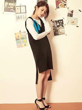 Blank Simple Silky Dress-bk