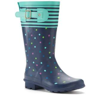 Western Chief Classic Dazzling Dots Girls' Tall Waterproof Rain Boots