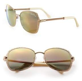 Roberto Cavalli 58MM Metal Oversized Square Sunglasses