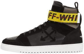 Off-White Towing Strap Leather High Top Sneakers