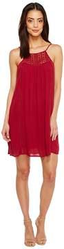 Brigitte Bailey Janalyn Spaghetti Strap Dress with Crochet Detail Women's Dress