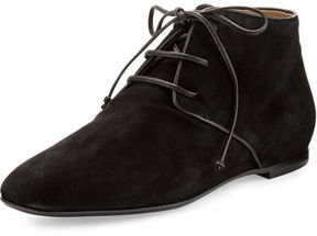 The Row Ada Suede Lace-Up Bootie