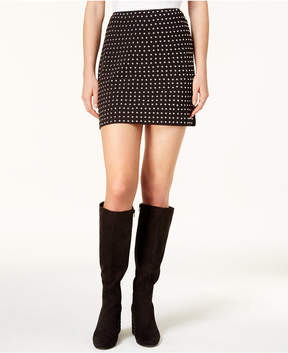 Bar III Studded Mini Skirt, Created for Macy's