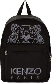 Kenzo Black Large Tiger Canvas Backpack
