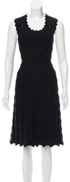 Alaia Fit & Flare Patterned Dress w/ Tags