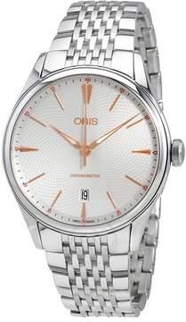 Oris Artelier Chronometer Automatic Silver Dial Men's Watch 737-7721-4031MB