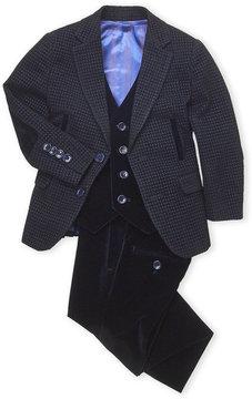 Isaac Mizrahi Toddler Boys) 3-Piece Velvet Suit