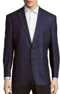Lauren Ralph Lauren Checked Silk-Blend Sportcoat