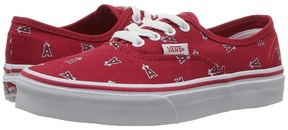 Vans Kids Authentic Anaheim Angels/Red) Kids Shoes