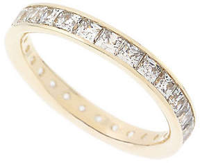 Diamonique As Is 1.75 ct tw Silk Fit Princess Cut Band, 14K