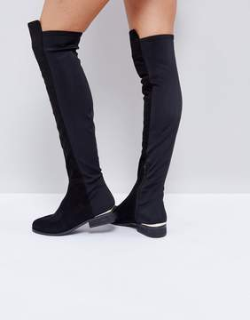Asos KNIGHT Stretch Over The Knee Boots