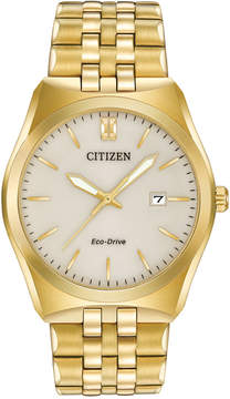 Citizen Men's Eco-Drive Gold-Tone Stainless Steel Bracelet Watch 40mm BM7332-53P