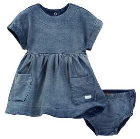 7 For All Mankind Dolman Sleeve Dress & Bloomer 2-Piece Set (Baby Girls)