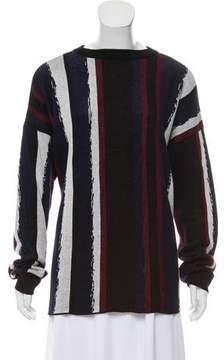 Baja East Striped Knit Sweater