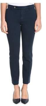 Berwich Women's Blue Cotton Pants.