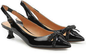 Marc Jacobs Abbey Slingback Patent Leather Pumps