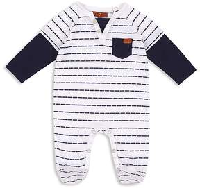 7 For All Mankind Boys' Striped Footie - Baby