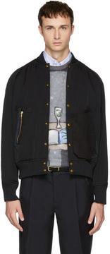 Kolor Black Detailed Pockets Bomber Jacket