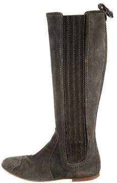 Balenciaga Suede Knee-High Boots