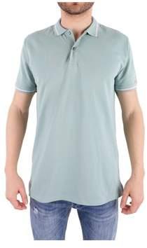 Peuterey Men's Green Cotton Polo Shirt.