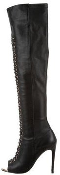 Ivy Kirzhner Peep-Toe Lace-Up Boots
