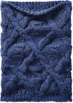 Joe Fresh Women's Cable Knit Cowl Scarf, Cobalt (Size O/S)