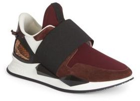 Givenchy Active Suede & Python Slip-On Sneakers