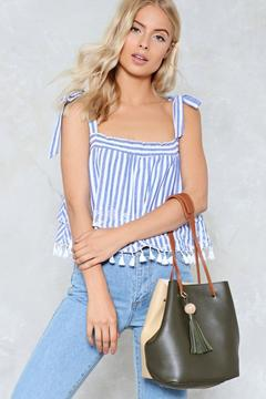 nastygal WANT Two Timing Vegan Leather Bag