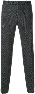 Incotex micro pattern tailored trousers