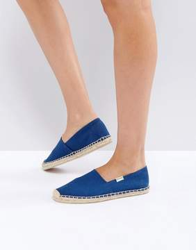 Soludos Original Canvas Dali Navy Espadrille Flat Sandals