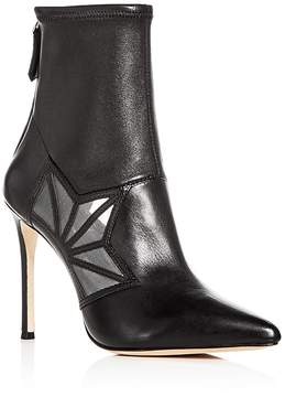 Pour La Victoire Women's Ceara Leather & Mesh Pointed Toe Booties