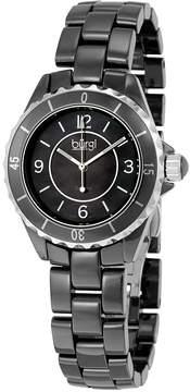 Burgi Black Ceramic Quartz Date Bracelet Ladies Watch