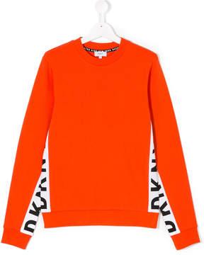 DKNY contrast piped logo sweatshirt