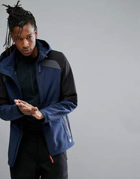 O'Neill Activewear Exile Softshell Jacket in Ink Blue