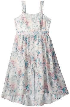 Us Angels Floral Crepe Chiffon Dress Girl's Dress