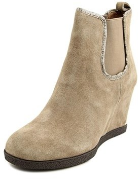 Donald J Pliner Dillon Women Round Toe Suede Brown Ankle Boot.