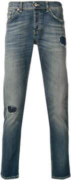 Dondup distressed straight leg jeans