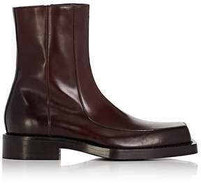 Balenciaga Men's Leather Apron-Toe Boots
