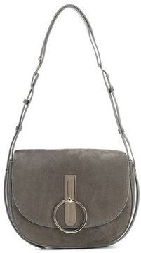 Nina Ricci Compas Large suede shoulder bag