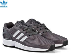 adidas Grey Blue ZX Flux Junior Trainers