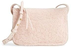 Madewell Simple Genuine Shearling Crossbody Bag - Pink