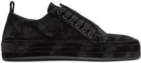 Ann Demeulemeester Black Velvet Sneakers