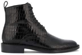 Robert Clergerie embossed combat boots