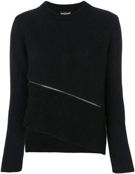 Emporio Armani jumper with horizontal zip