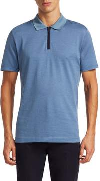 Luciano Barbera Men's Houndstooth Polo
