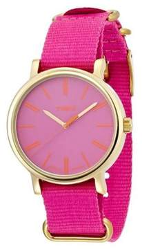 Timex Womens Pink Weekender Nylon Strap Watch - T2P364